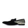 Loafers avec détails dorés et clous - noir
