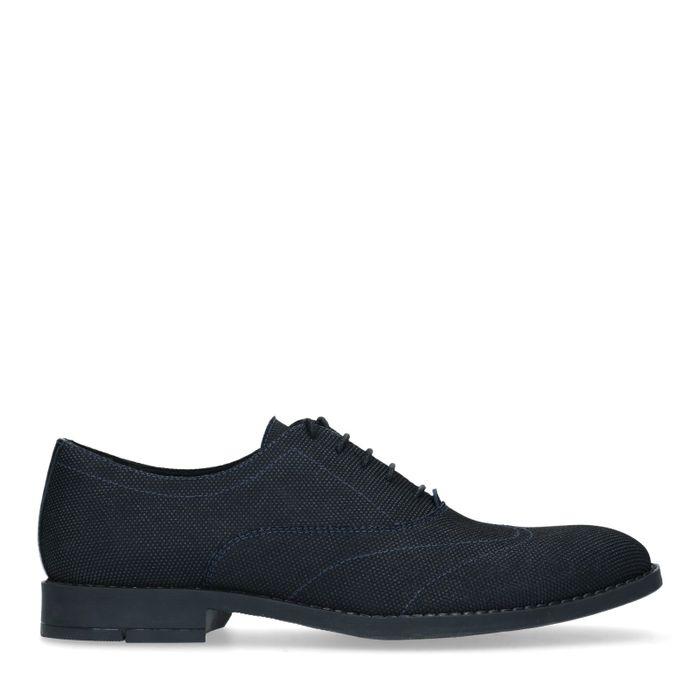 Chaussures à lacets textile avec détails - noir