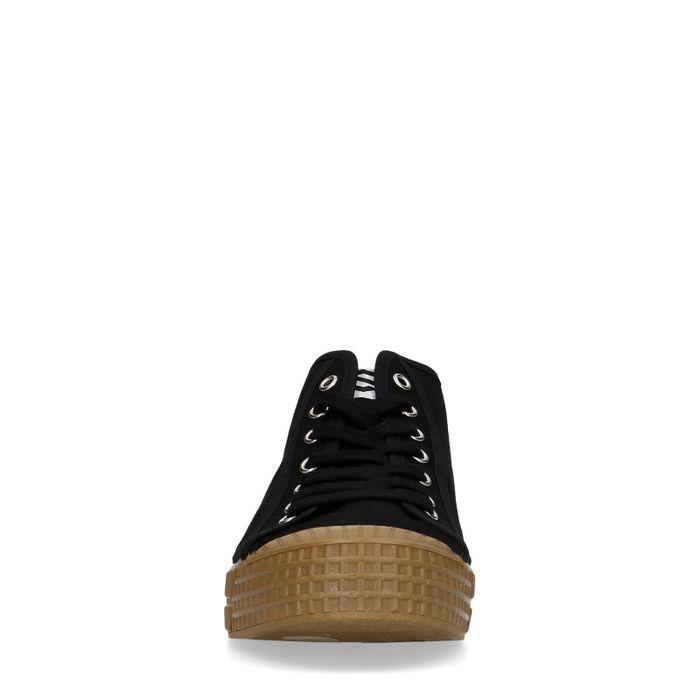 Baskets montantes en textile - noir