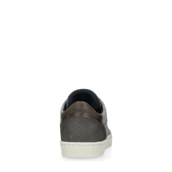 Baskets basses en toile - gris