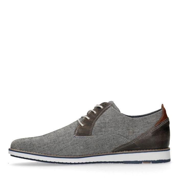 Chaussures à lacets en toile décontractées - gris