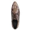Chaussures à lacets cuir verni imprimé serpent - marron