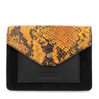 73657309636 Zwart schoudertasje met croco print 44,99