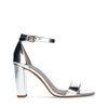 Silberfarbene Sandaletten