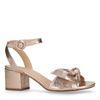 Rosafarbene Metallic-Sandaletten