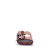Rosafarbene Sandalen mit silbernen Schnallen