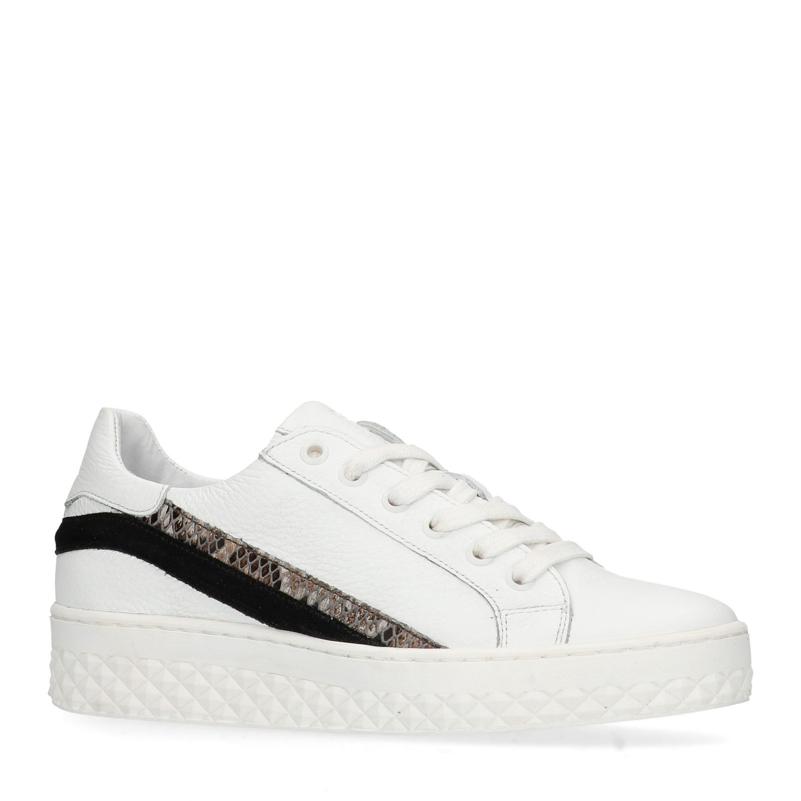 Weiße Sneaker mit Schlangenmuster Details (36,37,38,39,40,41