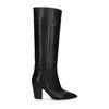 Hohe schwarze Stiefel mit Blockabsatz