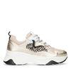 Goldene Dad-Sneaker mit Leopardenmuster