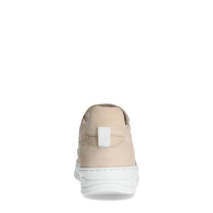 Beigefarbene Ledersneaker