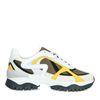 Weiße Sneaker mit gelben Details