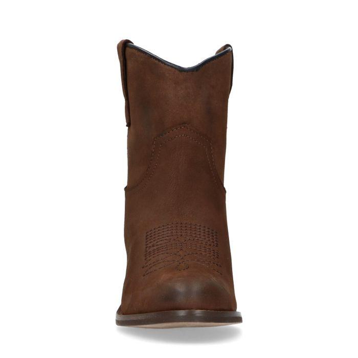 Braune Westernstiefel aus Leder