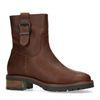 Braune Leder-Boots mit Schnalle