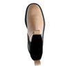 Camelbraune Chelsea Boots aus Leder mit Detail