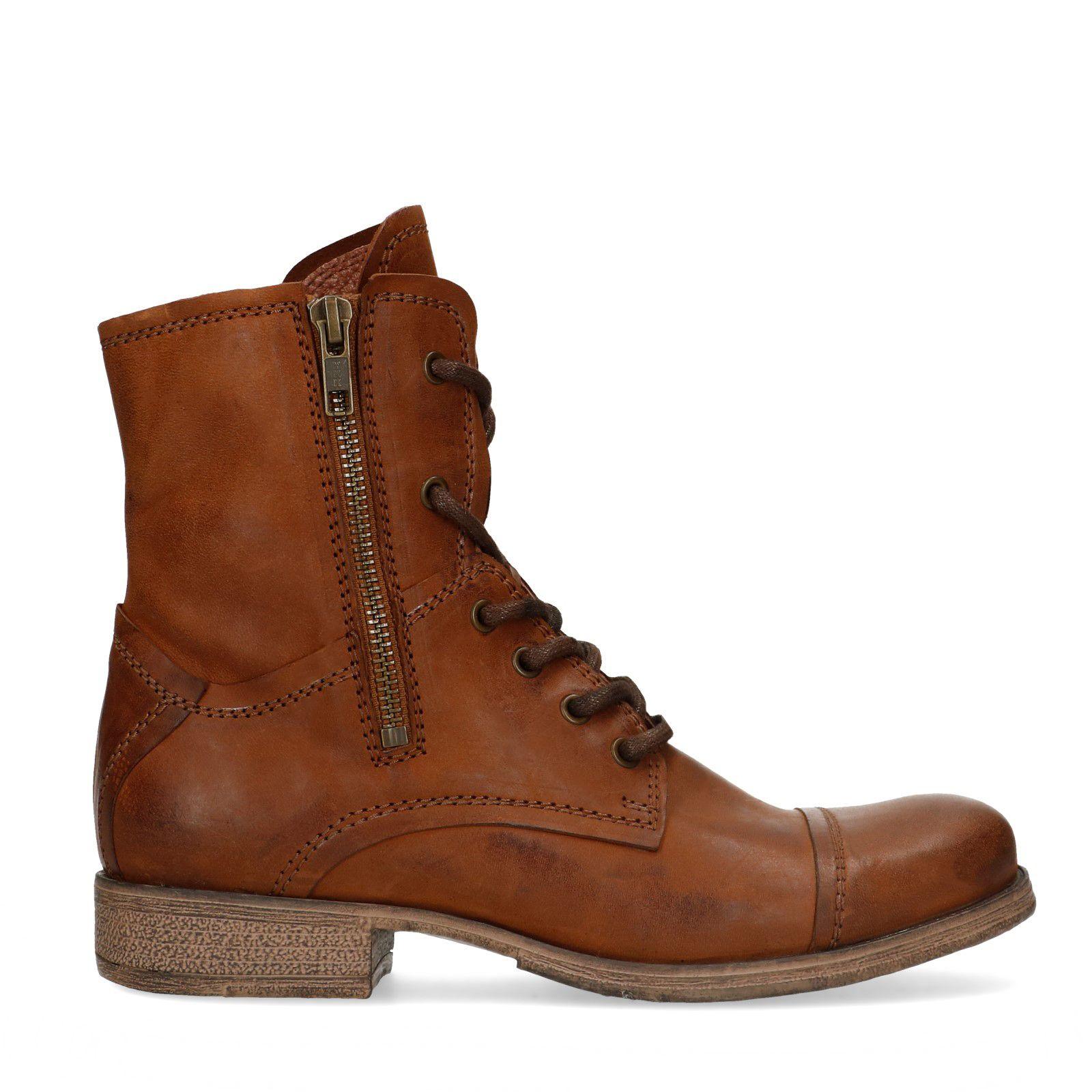 Sacha Cognacfarbene Combat Boots