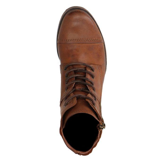 Cognacfarbene Combat Boots