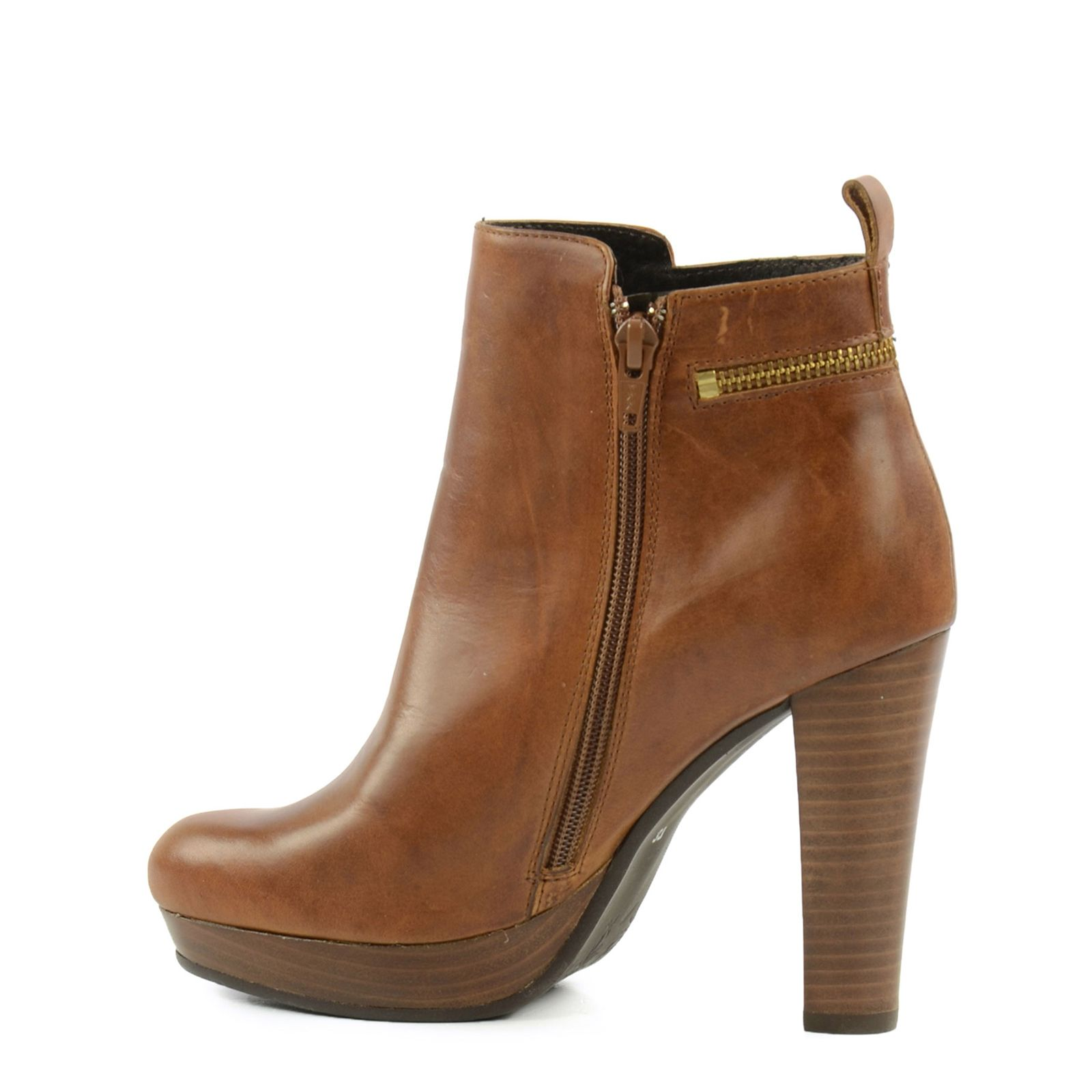SACHA Hohe Stiefeletten braun | Schuhe, Hochhackige schuhe