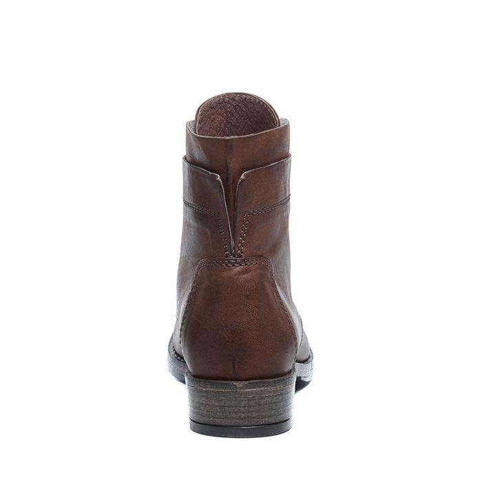 Cognacfarbene Biker Boots mit Schnürung