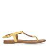 Gelbe Sandalen mit goldenen Details