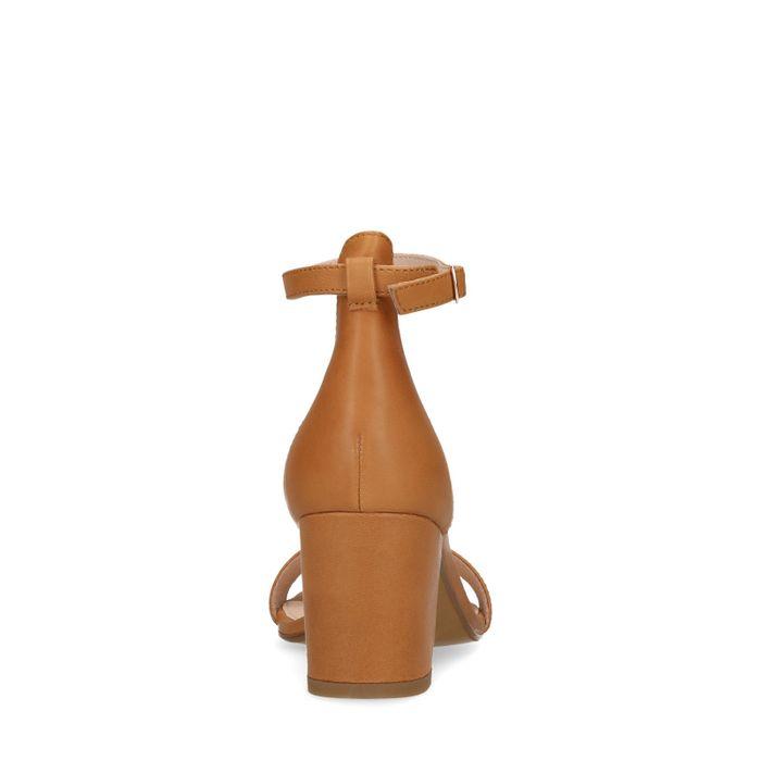 Cognacfarbene Leder-Sandaletten