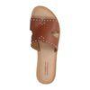 Braune Sandalen mit Nieten