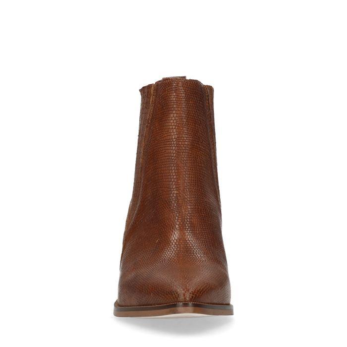 Braune Chelsea Boots mit Absatz