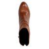 Braune Leder-Stiefeletten mit Absatz