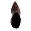 Braune Leder-Cowboystiefel mit Krokomuster