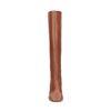 Cognacfarbene Absatz-Stiefel mit hohem Schaft