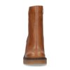 Cognacfarbene Stiefeletten mit Blockabsatz