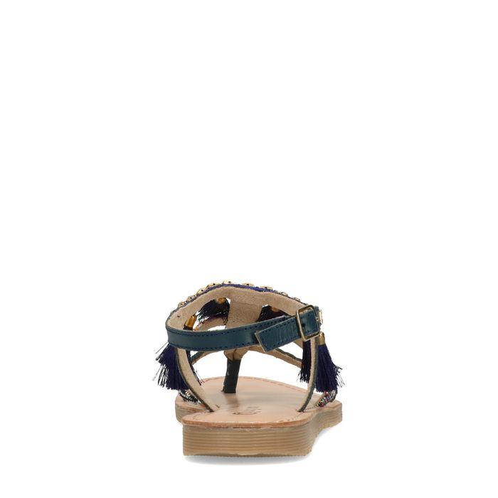 Dunkelblaue Sandalen mit Details