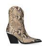 Cowboystiefel mit Metall-Details und Schlangenmuster
