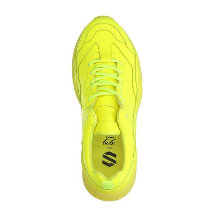 Neongelbe Dad-Sneakers