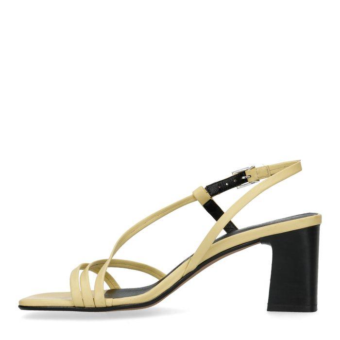 Gelbe Leder-Sandaletten