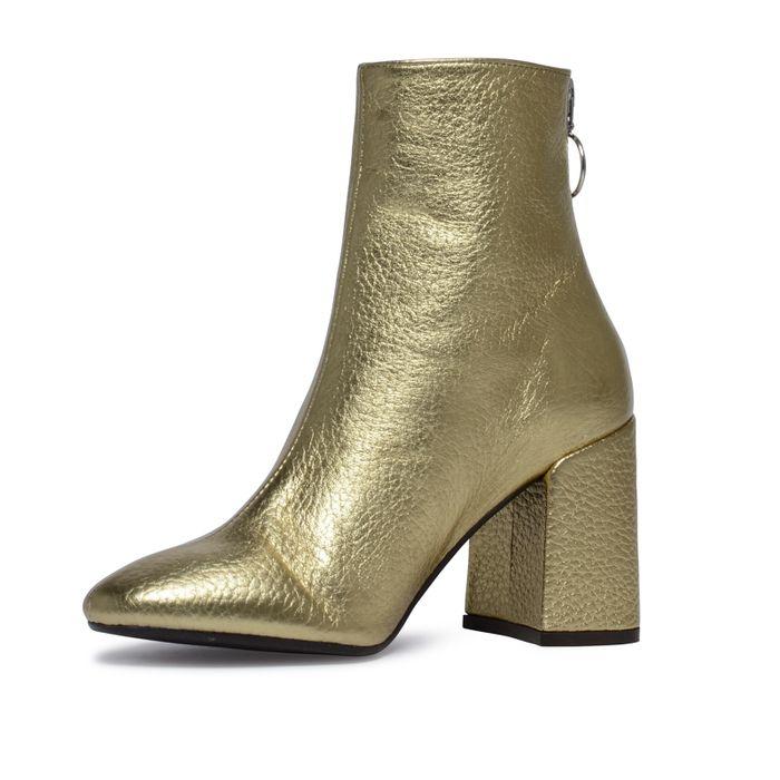 Stiefeletten Metallic-Gold