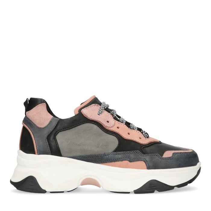 Dad-Sneaker grau/rosa