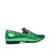 Grüne Loafer