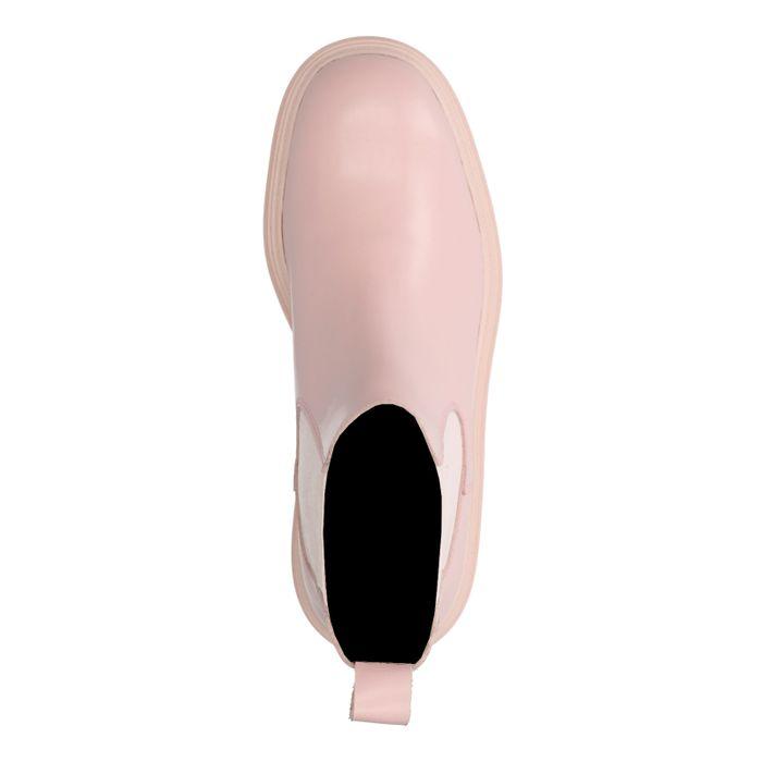Hellrosa Chelsea Boots aus Leder