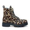 Biker Boots mit Leopardenmuster