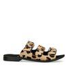 Sandalen mit Leopardenmuster und 3 Schnallen