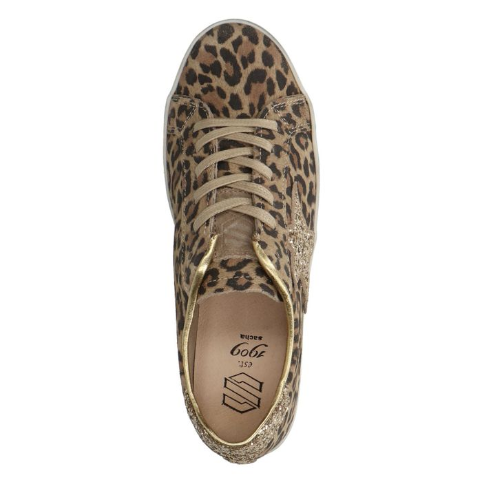 Braune Leo-Sneaker mit Details