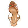 Mehrfarbige Sandaletten mit Flecht-Details