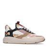 Mehrfarbige Sneaker mit goldenen Details