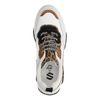 Weiße Dad-Sneaker mit Leopardenmuster