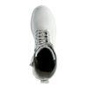 Offwhite Schnürstiefeletten aus Leder