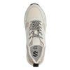 Offwhite Ledersneaker mit Details