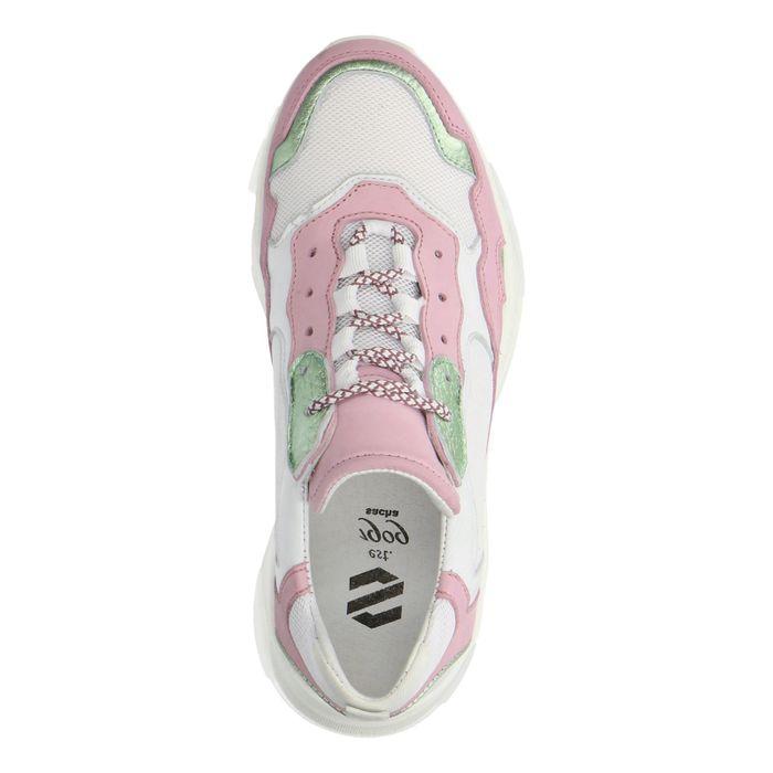 Dad-Sneaker grün/rosa