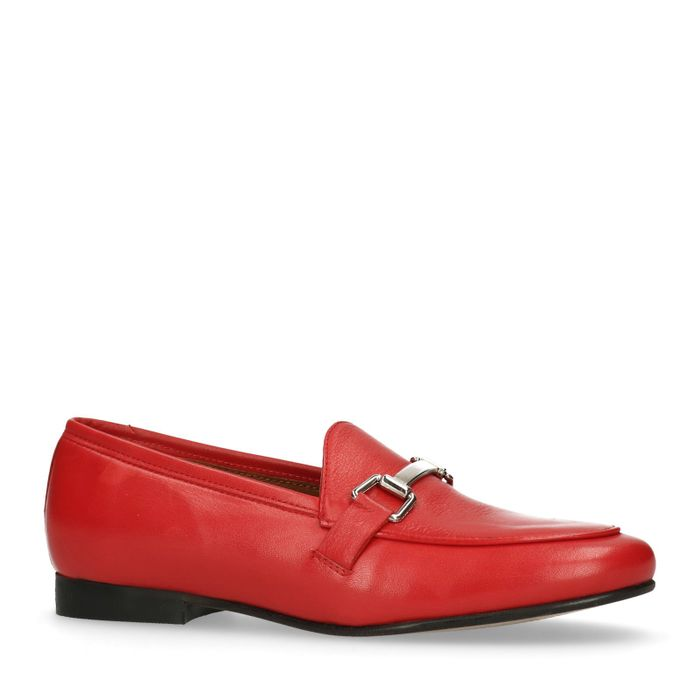 Rote Loafer
