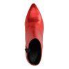 Metallic-rote Stiefeletten mit Absatz