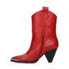 Rote Cowboystiefel aus Leder mit Trichterabsatz